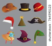 fun carnival festive collection ... | Shutterstock .eps vector #764590123