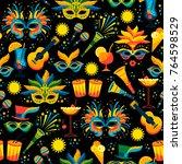 brazilian carnival. vector...   Shutterstock .eps vector #764598529