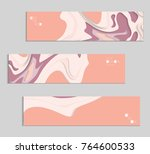 abstract banner template with... | Shutterstock .eps vector #764600533