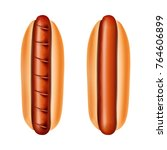 hot dogs vector illustration.... | Shutterstock .eps vector #764606899