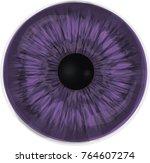 violet eye iris   detailed...   Shutterstock .eps vector #764607274
