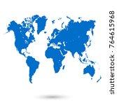 world map vector | Shutterstock .eps vector #764615968