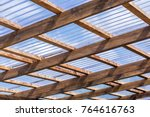 roof construction of a self... | Shutterstock . vector #764616763