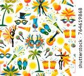 brazilian carnival. vector...   Shutterstock .eps vector #764619868