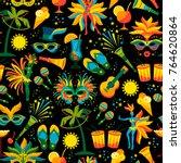 brazilian carnival. vector... | Shutterstock .eps vector #764620864