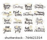 christmas   new year vector set ... | Shutterstock .eps vector #764621314