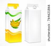 packages for juice  cardboard... | Shutterstock .eps vector #764621866