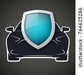 protect car guard shield.... | Shutterstock .eps vector #764625286
