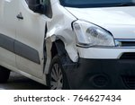 damaged car in collision   Shutterstock . vector #764627434