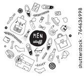 set of men stuff bag shoes t...   Shutterstock .eps vector #764636998