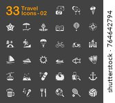travel and vacation vector... | Shutterstock .eps vector #764642794