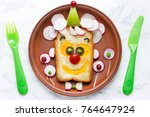 funny and healthy food art idea ...   Shutterstock . vector #764647924