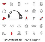 cosmetic bag icon. beauty ... | Shutterstock .eps vector #764648044