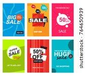 set of sale banner templates.... | Shutterstock .eps vector #764650939
