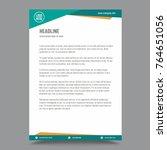 letterhead template design | Shutterstock .eps vector #764651056
