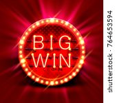 big win slots banner casino on... | Shutterstock .eps vector #764653594