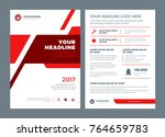 red brochure annual report... | Shutterstock .eps vector #764659783