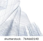 architecture 3d illustration | Shutterstock . vector #764660140