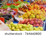 stall of fruits closeup | Shutterstock . vector #764660800