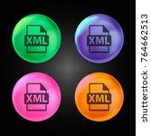 xml file format symbol crystal... | Shutterstock .eps vector #764662513