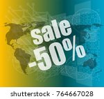 sale percentage on business... | Shutterstock . vector #764667028