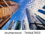 view on moscow biggest business ... | Shutterstock . vector #764667853