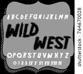 vector set of handcrafted fonts ... | Shutterstock .eps vector #764670028