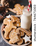 Milk And Gingerbread  Cookies...