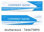 banner templates set in light... | Shutterstock .eps vector #764675893