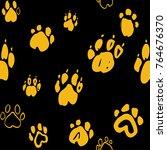 Dog Paw Seamless Pattern....