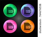 pdf crystal ball design icon in ... | Shutterstock .eps vector #764676538