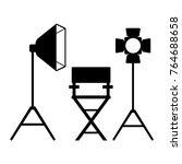 cinema icon. film director... | Shutterstock .eps vector #764688658
