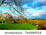 green park with sky | Shutterstock . vector #764689018