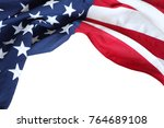 closeup of american flag on... | Shutterstock . vector #764689108