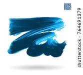 blue  brush stroke and texture. ... | Shutterstock .eps vector #764691379