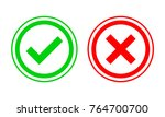 yes and no check marks. vector... | Shutterstock .eps vector #764700700