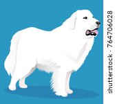 great pyrenees dog | Shutterstock .eps vector #764706028