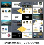 original presentation templates.... | Shutterstock .eps vector #764708986