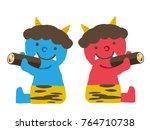 setsubun illustrations.... | Shutterstock .eps vector #764710738