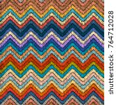 embroidered seamless pattern.... | Shutterstock .eps vector #764712028