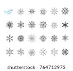 snowflake winter set of 23 snow ... | Shutterstock .eps vector #764712973