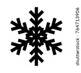 snowflake icon. christmas and... | Shutterstock .eps vector #764713906