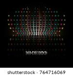 sound wave design  | Shutterstock .eps vector #764716069