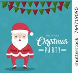 christmas party design | Shutterstock .eps vector #764719090