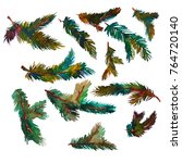watercolor christmas tree...   Shutterstock . vector #764720140
