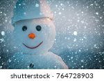 christmas new year snow concept ... | Shutterstock . vector #764728903