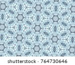 multicolor mosaic pattern... | Shutterstock . vector #764730646
