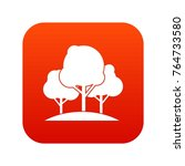 forest trees icon digital red... | Shutterstock .eps vector #764733580