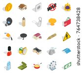 profitable business icons set.... | Shutterstock .eps vector #764738428
