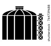 oil storage tank icon. simple... | Shutterstock .eps vector #764739688